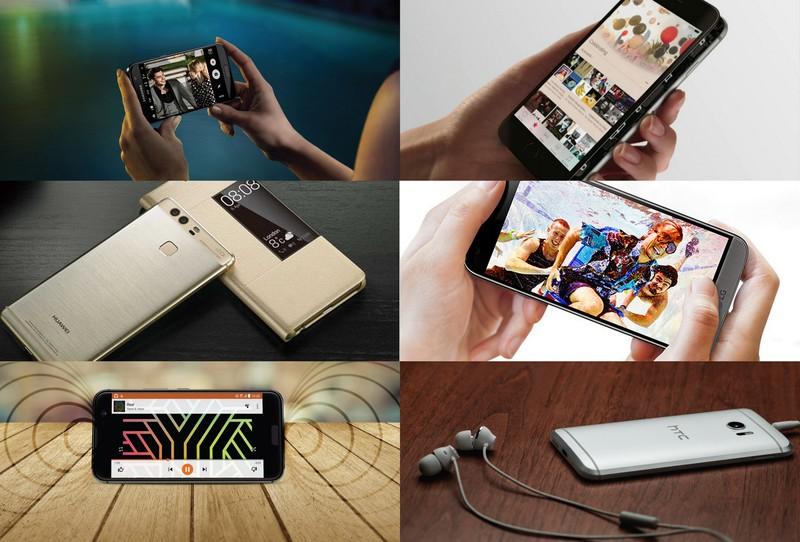 Porównanie topowych smartfonów - HTC 10, Huawei P9, Samsung Galaxy S7, LG G5, iPhone 6s