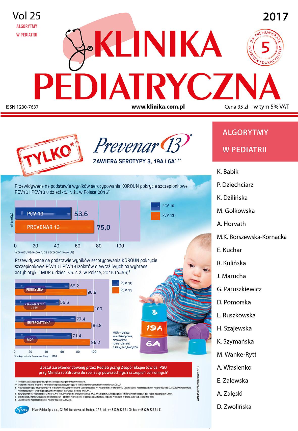 KP 2017 - Numer Specjalny - Algorytmy w Pediatrii
