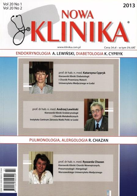 KN 2013/1-2 - Endokrynologia, Diabetologia, Pulmonologia, Alergologia