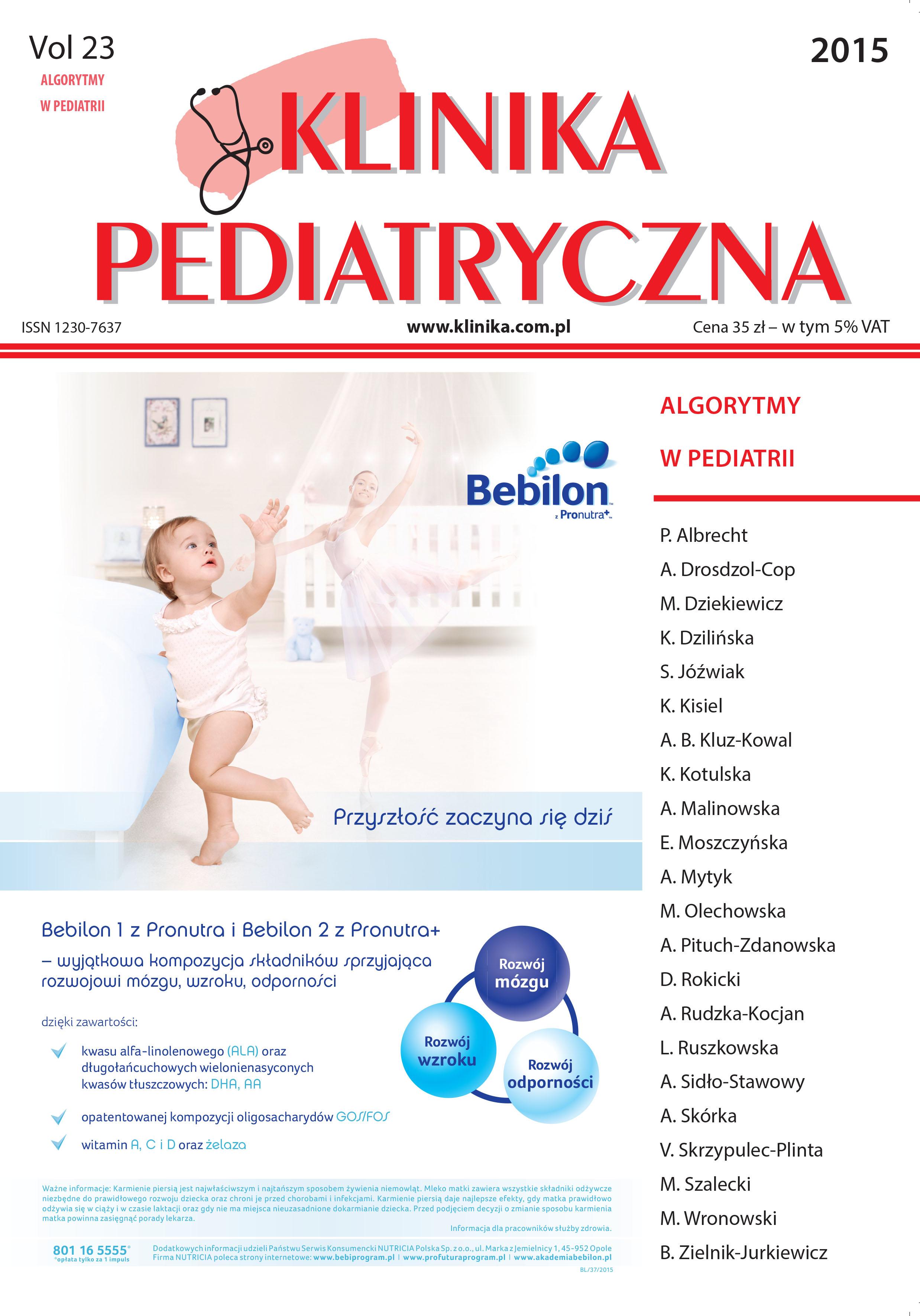 KP 2015 - Numer Specjalny -Algorytmy w pediatrii