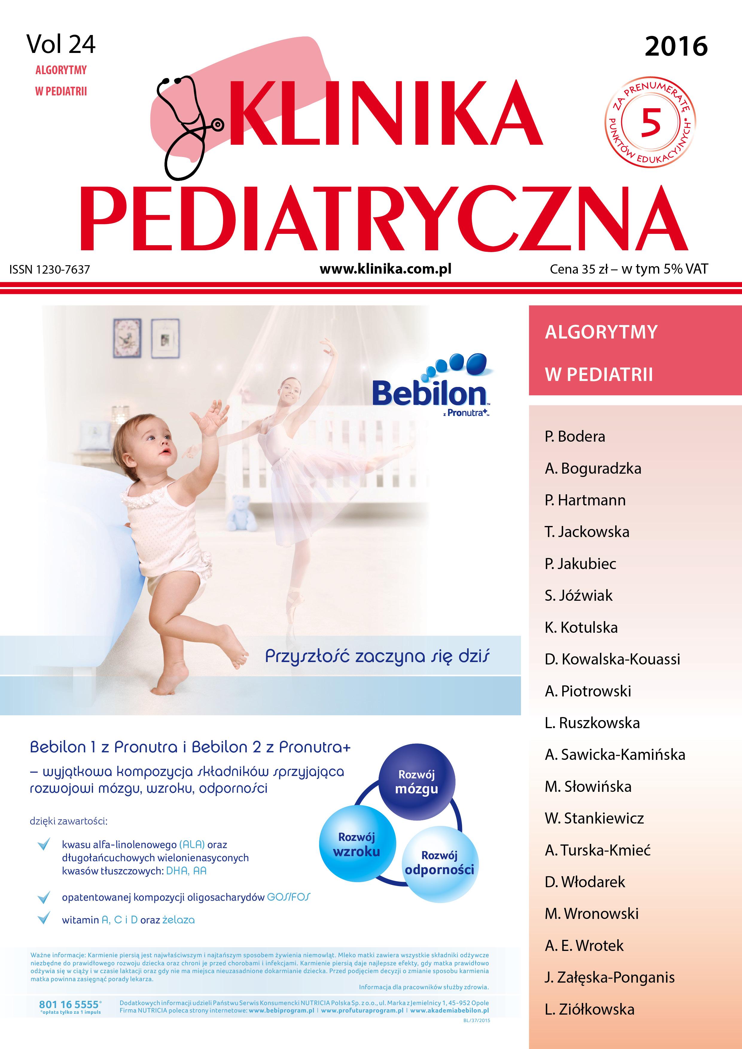 KP 2016 - Numer Specjalny - Algorytmy w Pediatrii