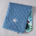 VELVET COLLECTION - KOCYK ŚREDNIAKA SLIM - BLUE HAWAIIAN FLOWERS - DENIM