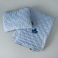 VELVET COLLECTION – SET – BLANKET & MID PILLOW  - POWDER BLUE
