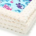NEW-BORN BLANKET - PINKY MERMAIDS - ECRU