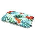 BAMBOO BED PILLOW - 40x60cm - BLUE HAWAIIAN FLOWERS
