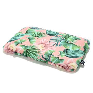 BAMBOO BED PILLOW - 40x60cm - PEACH HAWAIIAN FLOWERS