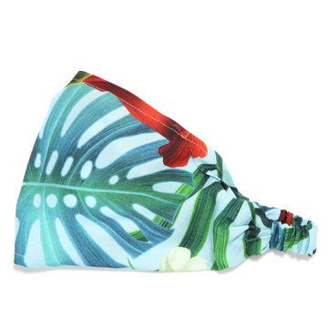 BAMBUSOWA OPASKA - BLUE HAWAIIAN FLOWERS