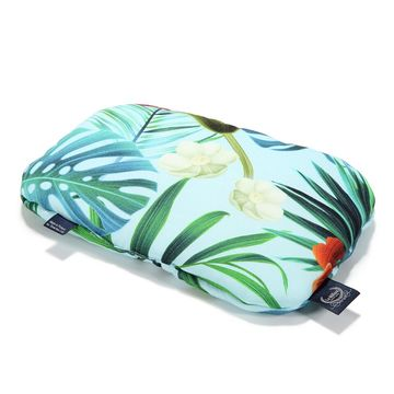 BABY BAMBOO PILLOW - BLUE HAWAIIAN FLOWERS