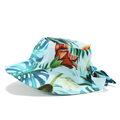 KAPELUSZ MAŁEJ DAMY - BLUE HAWAIIAN FLOWERS