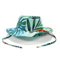 SAFARI HAT - BLUE HAWAIIAN FLOWERS