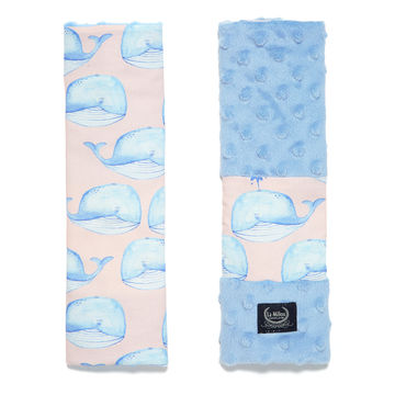 SEATBELT COVER - PINK MOBY - SKY
