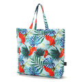 SHOPPER BAG - BLUE HAWAIIAN FLOWERS