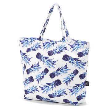 SHOPPER BAG - BLUE PINEAPPLES