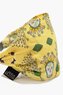 BY ANNA MUCHA  - OPASKA - SKULLS YELLOW