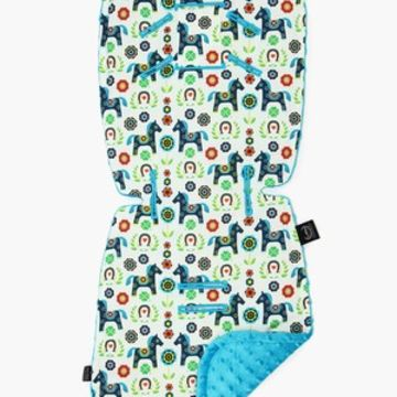 STROLLER PAD - BRIGHT PONY - TURQUOISE