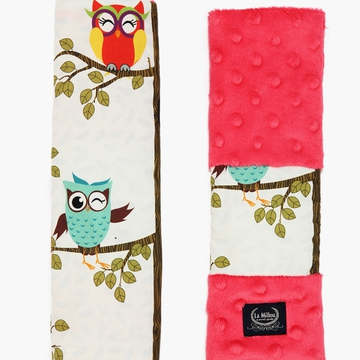BY ANNA MUCHA  - SEATBELT COVER - OWL RADIO - WATERMELON