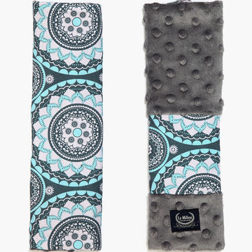 SEATBELT COVER - MOSAIC - GREY