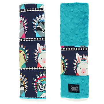 SEATBELT COVER - INDIAN ZOO - TEAL
