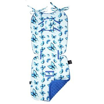 STROLLER PAD - MOTYLEM JESTEM - ELECTRIC BLUE