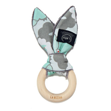WOODY BUNNY - MINT SHEEP FAMILY - GREY