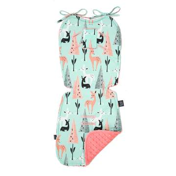 STROLLER PAD - MINT BAMBI - CORAL