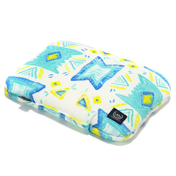 BABY BAMBOO PILLOW - BOHO AQUA TWIST