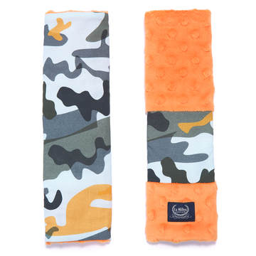 SEATBELT COVER - RACE CAMOUFLAGE ORANGE - ORANGE