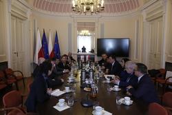 Parlamentarzyści gruzińscy w Ministerstwie Sportu i Turystyki