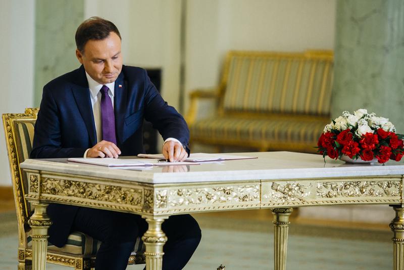Prezydent RP podpisał ustawę o zwalczaniu dopingu w sporcie. Źródło: Kancelaria Prezydenta RP (www.prezydent.pl)