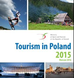 "leaflet ""Tourism in Poland 2015"""