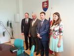 Minister Dawid Lasek z wizytą na Słowacji
