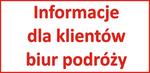 informacje dla klientów biur podróży