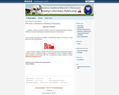 Biuletyn Informacji Publicznej Powiatowego Inspektoratu Weterynarii w Bartoszycach