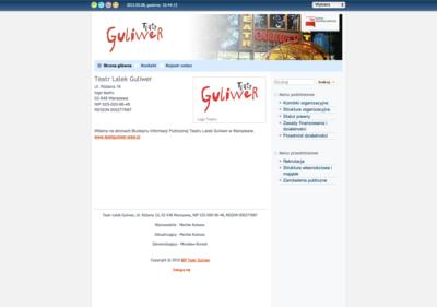 Biuletyn Informacji Publicznej Teatru Lalek Guliwer w Warszawie