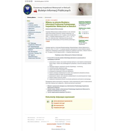 Biuletyn Informacji Publicznej Powiatowego Inspektoratu Weterynarii w Kielcach