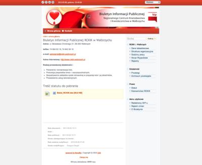 Biuletyn Informacji Publicznej RCKiK w Wałbrzychu