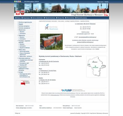 BIP Urzędu Kontroli Skarbowej w Warszawie