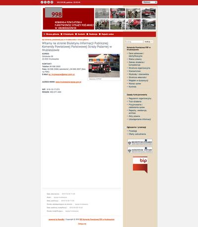 Biuletyn Informacji Publicznej Komendy Powiatowej Państwowej Straży Pożarnej w Hrubieszowie