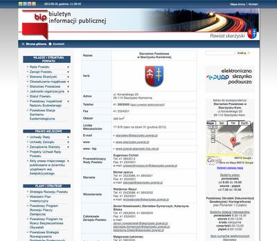 Buletyn Informacji Publicznej  Starostwa Powiatowego w Skarżysku-Kamiennej