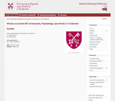BIP Uniwersytetu Papieskiego Jana Pawła II w Krakowie