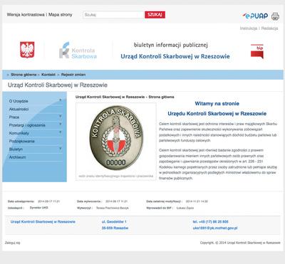 Strona BIP Urząd Kontroli Skarbowej w Rzeszowie