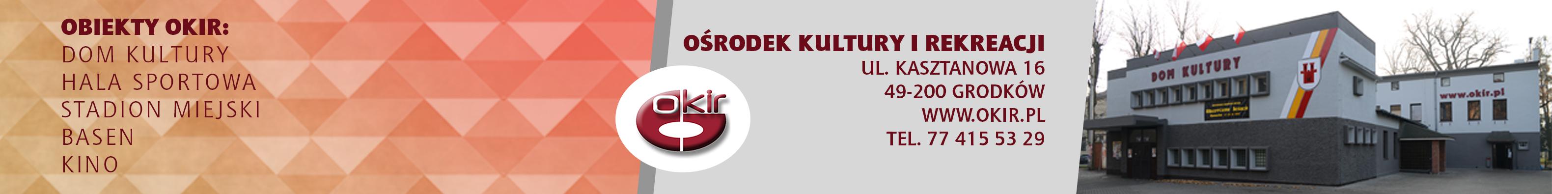 Baner BIP Ośrodek Kultury i Rekreacji w Grodkowie