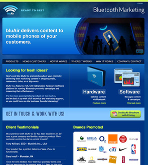 Bluair, Bluetooth Marketing