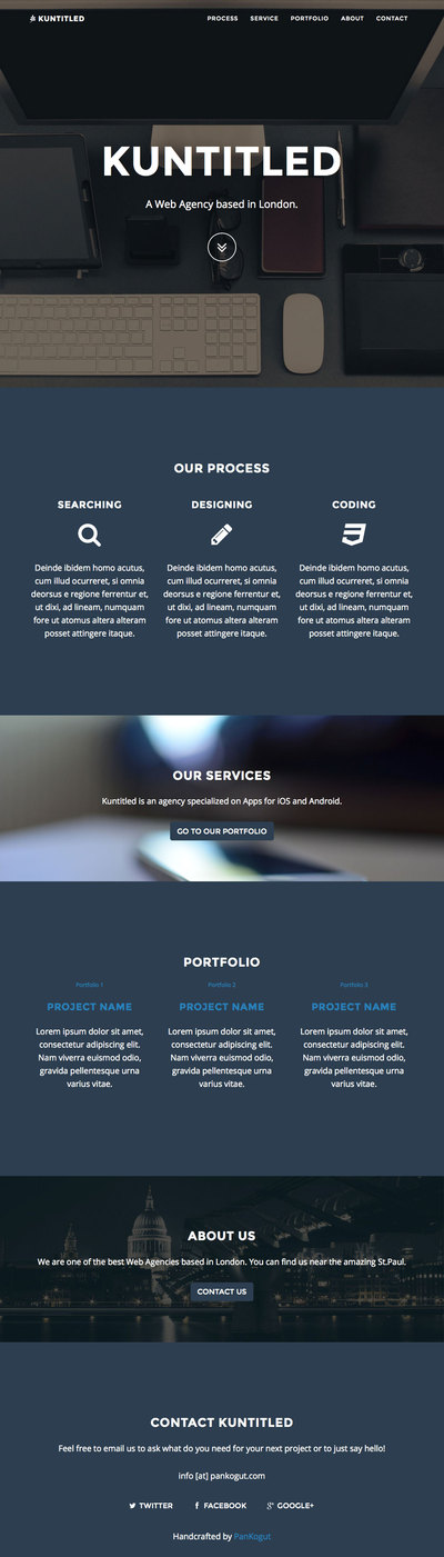 Kuntitled-responsive-one-page