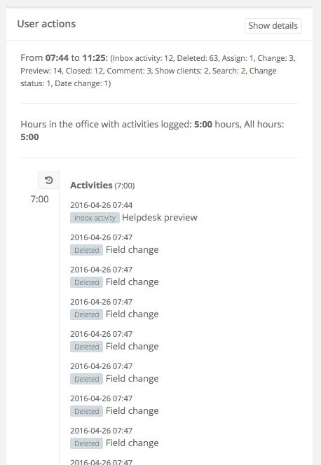 Activity tracking