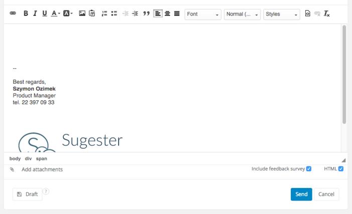 WYSIWYG + HTML editor