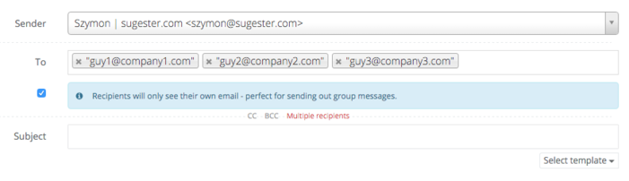 Group mailing