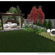 Oświetlenie ogrodu nocą