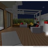Projekt tarasu nocą
