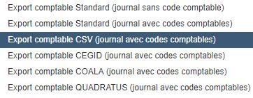 Facturation Facture Document Comptable Export CSV Journal Vente Achat